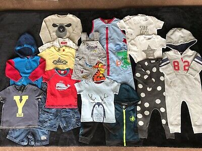 Baby Boy Assorted Clothes Bundle, Size 0, New And Preloved