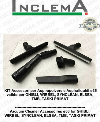 Wet & Dry kit accessories for vacuum cleaner ø36 valid for GHIBLI , WIRBEL,