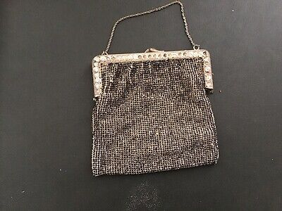 Vintage glomesh purse 60 plus years with theatre stub ticket - Sell For Charity