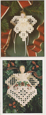 2 Hardanger Christmas Angels Patterns by Emie Bishop of Cross 'N' Patch