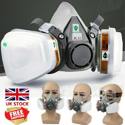 7 in1 Half Face Chemical Spray Painting Protective Vapour Gas Dust 3M 6200