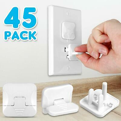 Outlet Covers with Hidden Pull Handle Baby Proofing Plug Covers (45 Pack)