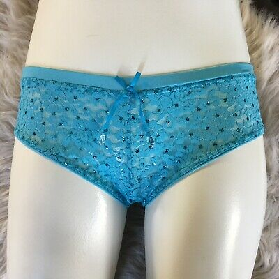 Vintage Victoria's Secret 2007 Sexy Little Things Lace Bling Panty Medium - NWT