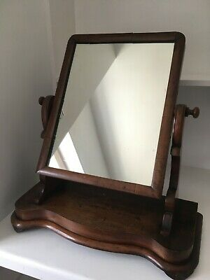 Antique dressing table mirror, needs slight adjustment but solid, good condition