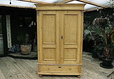 Wow! Beautiful! Large Old Pine Double 'Knock Down' Wardrobe-We Deliver/Assemble!