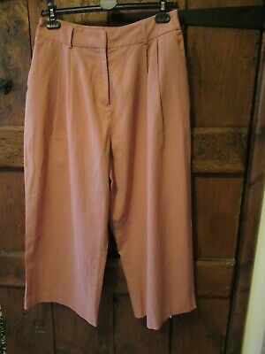 ASOS Womens Terracotta Cropped / Culottes Trousers Size 12 GC