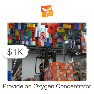 $1000 Charitable Donation For: 1 Oxygen Concentrator
