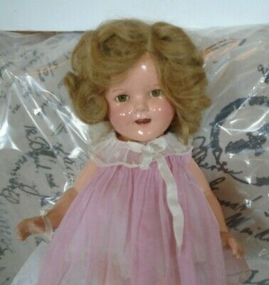 "Vintage 1930s 16"" Compo Ideal Shirley Temple Doll Clear Eyes Orig Dancing Dress"