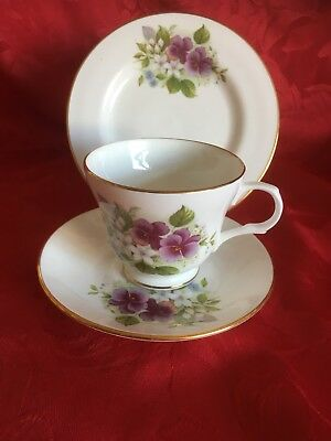 Sadler  Wellington Fine Bone China Floral Tea Trio.