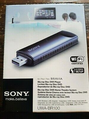 Sony Usb Wireless Lan Adapter. Uwa-Br100. For Bravia. Dongle. New In Opened Box.