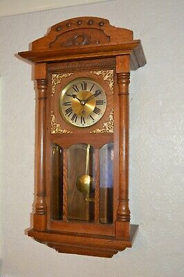 A Nice Blonde Oak Cased Wall Clock With A Good Single Fusee Movement *Serviced*