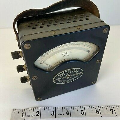 Weston Electrical Instruments AC Volt Meter Model 433 No. 4163 3 Pole