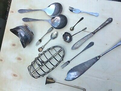 Job Lot Of Silver Plated Items, Cutlery Etc