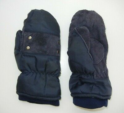 Vtg 80s PROMARK Wells LaMont Blue Warm DOWN WINTER MITTENS Gloves Sz Women's M