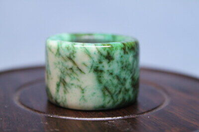 Collectable Decorative Jade Polishing Pattern Auspicious Noble Beautiful Ring