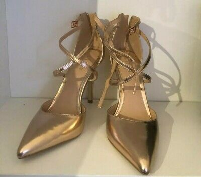 ASOS lipsy rose gold high heels shoe size 6 NEW