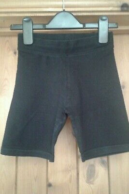 Girls/Boys George Black Cycle Gym School Shorts age 8-9 Years