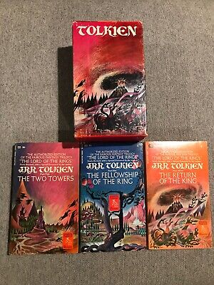 The Lord of the Rings - JRR Tolkien - Ballantine (Paperback Box Set, 1969) NICE!