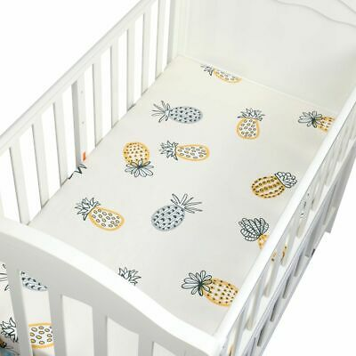 Crib Sheets Set Cotton Toddler Sheet Set Baby Breathable Hypoallergenic 105*60cm