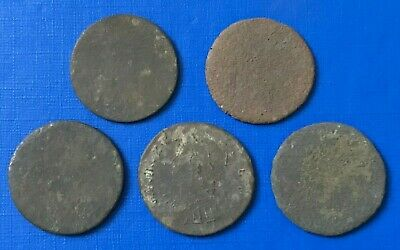 Lot of 5 Ancient Roman Bronze Colonial Coins  1 - 3rd Century AD - Ref.649