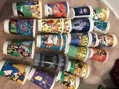 various 1990's pizza hut cups
