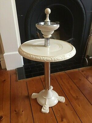 Classic Art Deco  Smokers Stand with Small Table