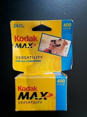 NEW/SEALED Kodak Max Vers. 24 exposures 400 Film -  Expired 12/2005 (2 Rolls)