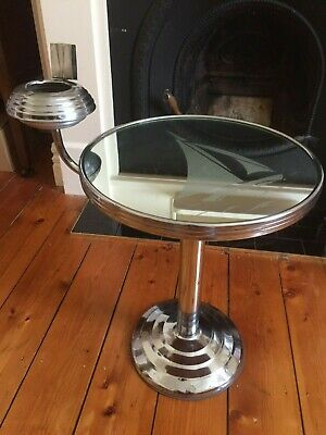 Art Deco  Smokers Stand Table with Ashtray Holder