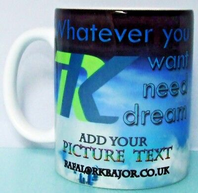 Design Your Own Personalised Mug Custom Changing colour sparkling gold cup tea