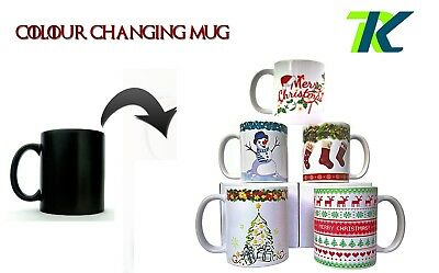 PERSONALISED CHRISTMAS CUP great coffee mug tea Magic Color Changing Heat