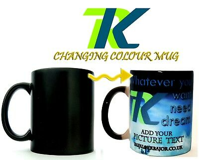 Magic Heat Colour Changing Cup PERSONALISED MUG COFFEE CUP GIFT for everyone