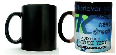 Heat Colour Change Mug Cup any text message logo or image (photo) printed