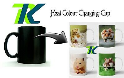 HAMSTER coffee mug CHANGING COLOUR MUG with own text tea cup brithday christmas