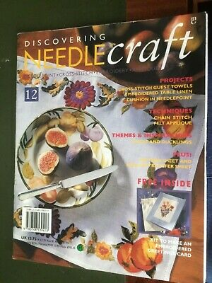 Vintage Discovering Needlecraft Magazine 1993 with free gift