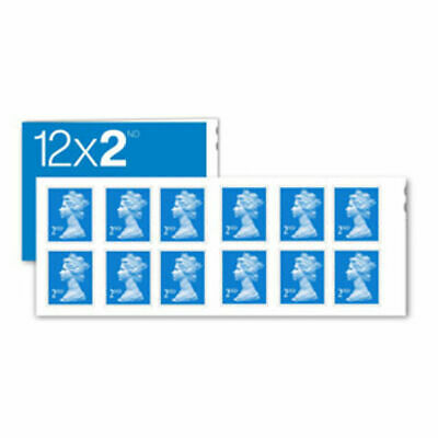NEW 2nd Class Stamps x 12 Stamp Book RRP£7.80