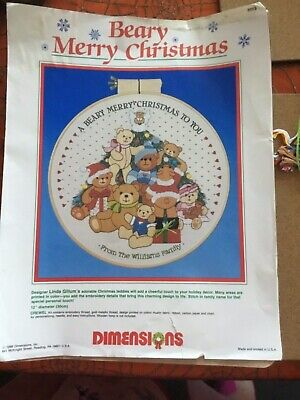 Dimensions Beaty Merry Christmas Crewel Embroidery kit by Linda Gillum