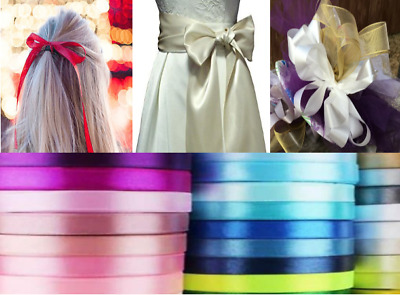 Double Sided Satin Ribbon Florist Bouquet Wedding Pew Ends Decoration Bow Hair