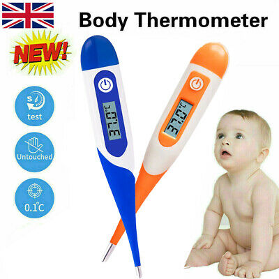 Thermometer for Adults and Kids Digital LCD Baby Body Thermometers for Ear Mouth