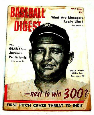 May 1960 Baseball Digest Early Wynn Chicago White Sox GVG Tickets Bears Cubs Ofr