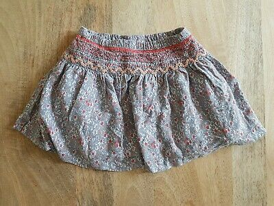 Girls grey and coral pink ditsy flower skirt - Next - 12-18 months
