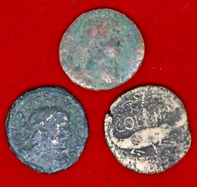 3 Unidentified Roman Coins