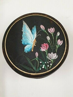 antique hand painted butterfly decoration small BOX