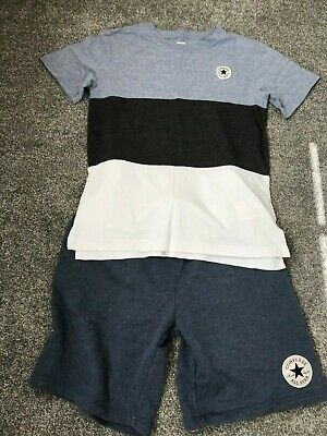 Converse boys shorts and t-shirt age 12-13 years
