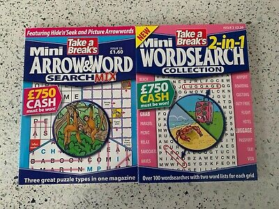Take A Break Mini Wordsearch And Arrow&word Puzzle (was £3.80)