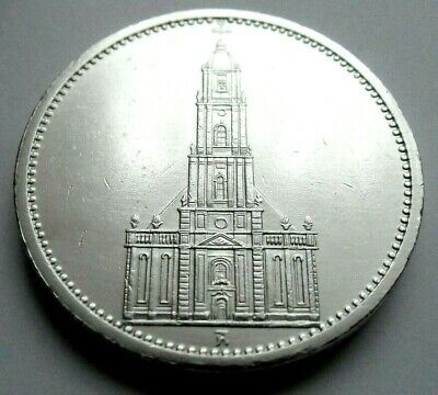 (13) ANTIQUE WWII   German 3rd Reich  1934 A   5 Reichsmark Silver Coin