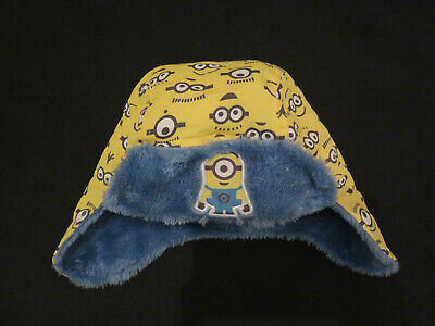 Minions Yellow Warm Hat with ear flaps Size 1-3 years