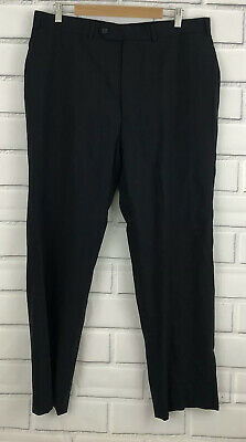 Brooks Brothers Wool Dress Pants Fitzgerald Mens Career 38W Navy Blue Brookscool