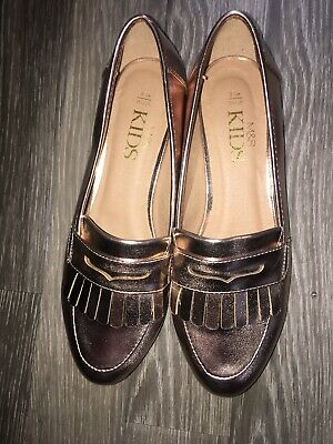 Ladies  Girls Marks & Spencer Patent Pink Shoes Size 3 Flat