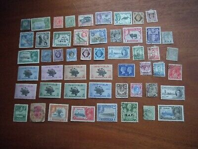Lot 124)  KEVIII KGV KGVI Mounted Mint & Used Commonwealth stamps - unchecked