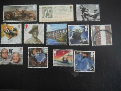 Lot 29) 2015 GB Commemorative Stamps USED inc Comedy Greats  RUGBY Alice